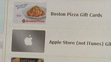 Gift cards can be swapped and purchased online.