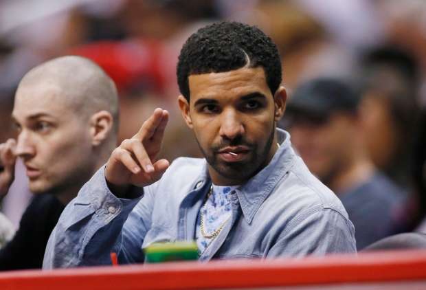 Drake at an NBA basketball game