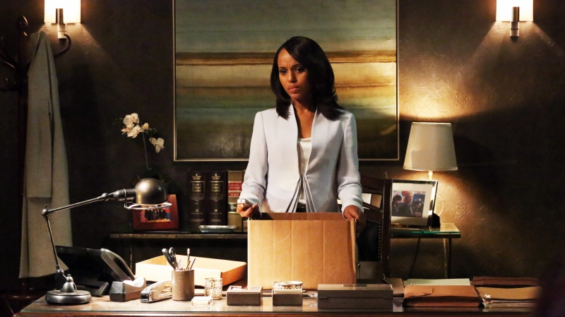 This undated publicity photo released by ABC shows Kerry Washington as Olivia Pope in a scene from 'Scandal.' (Provided / ABC / Richard Cartwright)