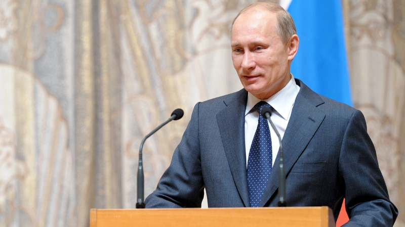 Russian President Vladimir Putin is shown in this file photo. (AP)