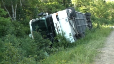 Bus roll over on Cabot Trail