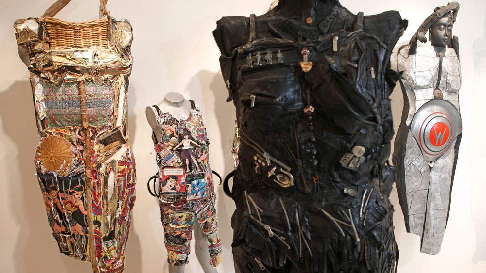 Wearable sculptures created by Linda Stein