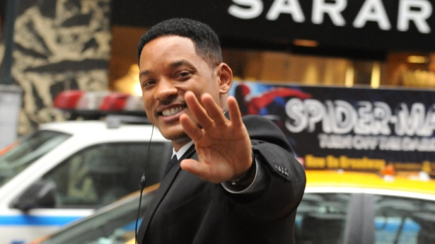 will smith on movie set