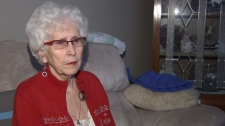 The ashes belonging to Carol Lalonde's late husband Lawrence were stolen from her Delta home on Christmas Eve. Dec. 28, 2011. (CTV)