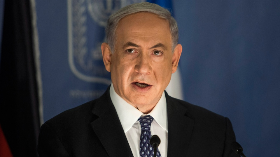 Israeli Prime Minister Benjamin Netanyahu speaks during a joint press conference in Tel Aviv, Tuesday, July 15, 2014. (Dan Balilty)