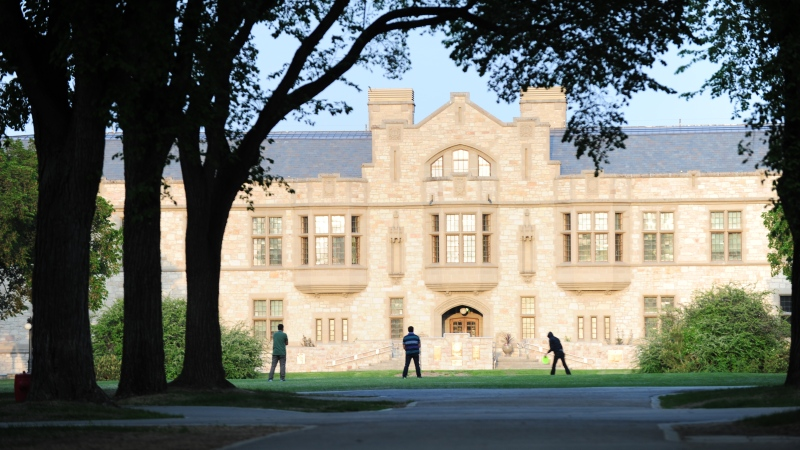 The University of Saskatchewan's Peter MacKinnon Building is seen in this file photo.