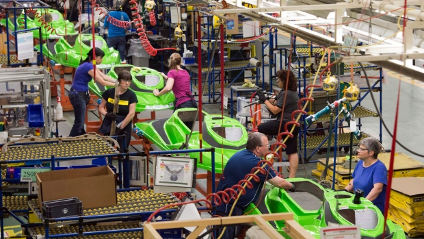 Bombardier's SeaDoo assembly line
