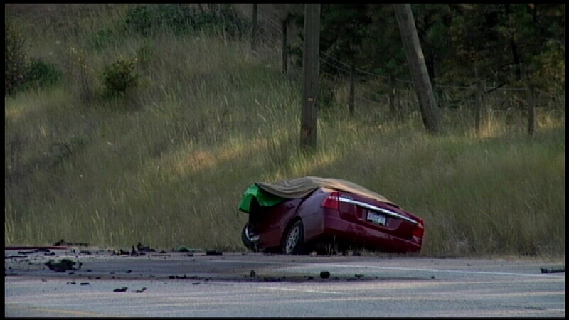 Mounties say up to three people may be dead after a crash in Kelowna on Tuesday, July 15, 2014. (CTV)