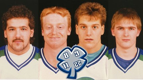Chris Mantyka, Trent Kresse, Scott Kruger and Brent Ruff are seen in this photo from the Swift Current Broncos website.
