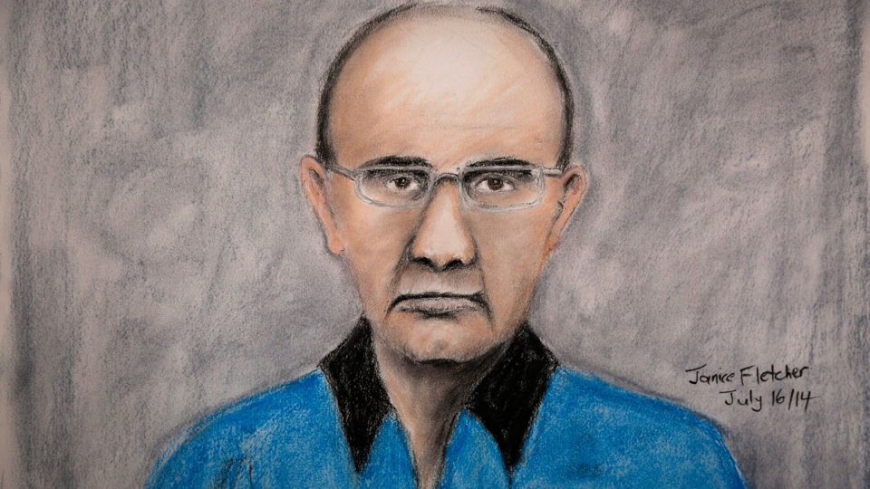 Courtroom sketch of Douglas Garland
