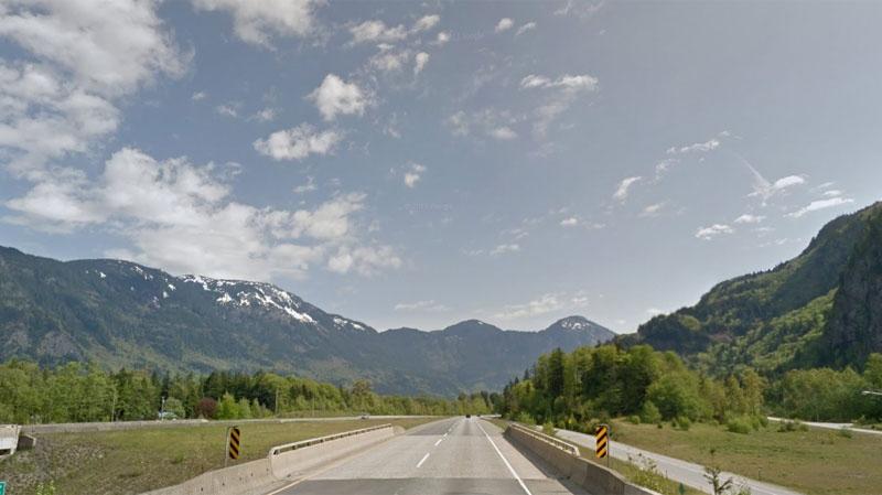 Highway 1 outside Hope, B.C.