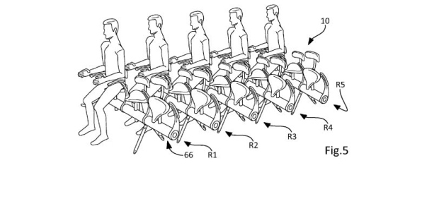 Airbus files patent for bicycle-like seat.