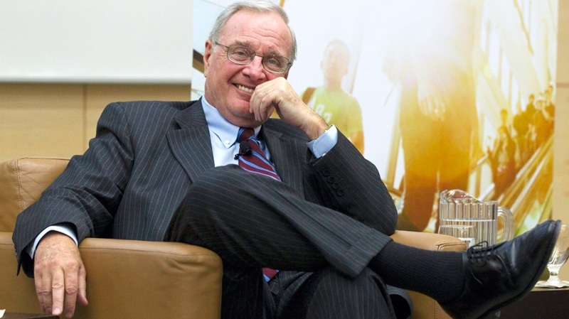Former Prime Minister Paul Martin smiles during a discussion on Indigenous governance in a new century at Ryerson University in Toronto on Tuesday, Jan. 25, 2011. (Frank Gunn / THE CANADIAN PRESS)