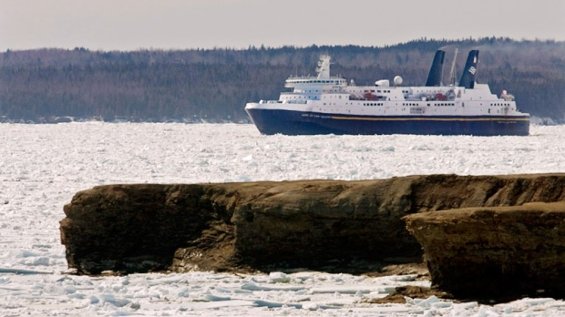 The Marine Atlantic ferry MV Joseph and Clara Smallwood heads through ice as it departs North Sydney, N.S. on March 27, 2009. (Andrew Vaughan / THE CANADIAN PRESS)The Marine Atlantic ferry MV Joseph and Clara Smallwood heads through ice as it departs North Sydney, N.S. on March 27, 2009. (Andrew Vaughan / THE CANADIAN PRESS)