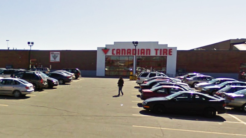 The incident took place at this Canadian Tire outl