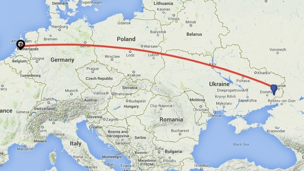 Flight MH17 itinerary