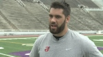 Former McGill Redmen football player Laurent Duvernay-Tardif talks about studying the Kansas City Chiefs' playbook while studying medicine.