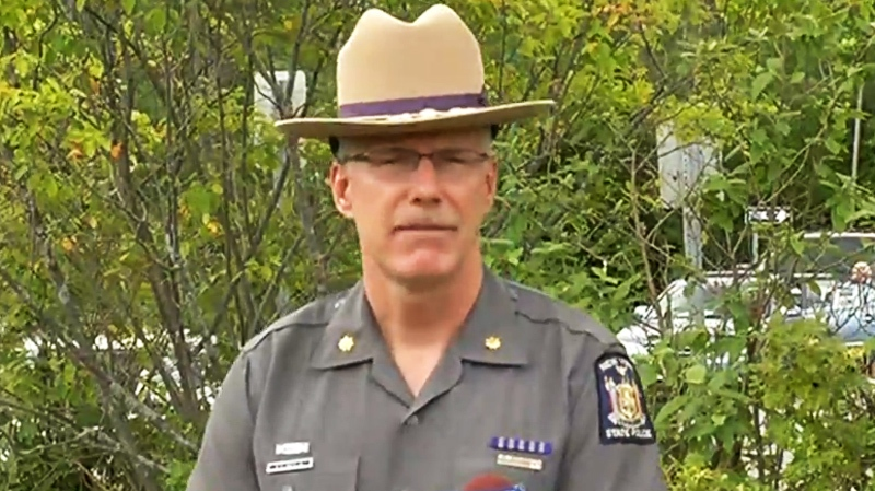"""""""The individual was ejected or partially ejected and the bus landed on top of that individual,"""" said Major Richard Smith State Troop Commander of New York State Police at an afternoon press conference."""