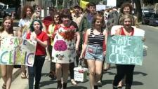Morgentaler Clinic protest