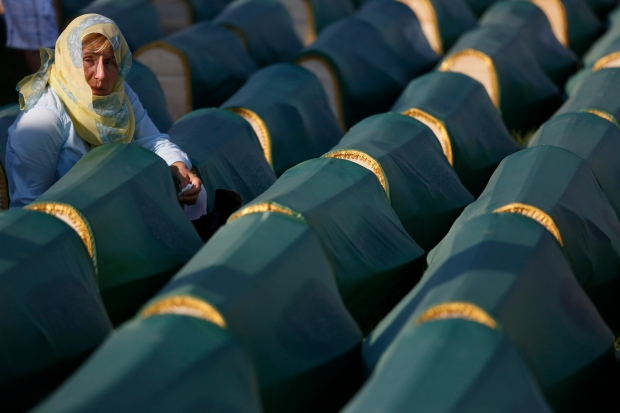 Bosnia holds funeral for those found in mass grave
