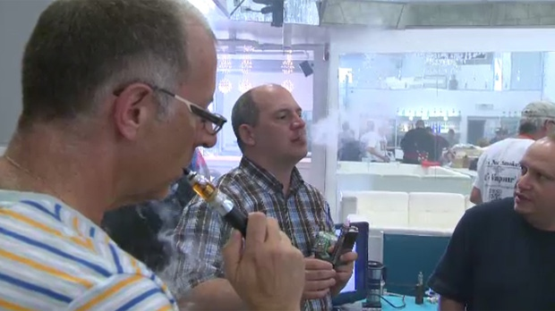Winnipeggers came out to test electronic cigarettes at the city's first Vape Expo on Sunday, July 20, 2014.
