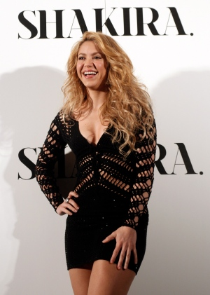 "In this March 20, 2014 photo, Shakira poses during the presentation of her new album, ""Shakira,"" in Barcelona, Spain. (AP Photo/Manu Fernandez, File)"