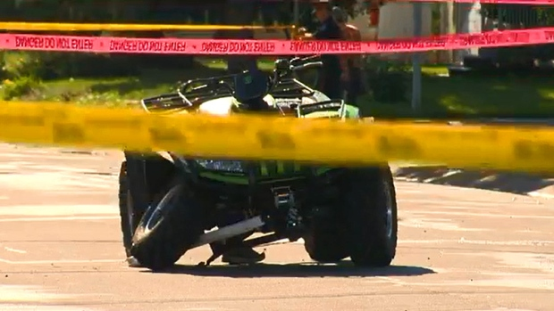 ATV surrounded by police tape