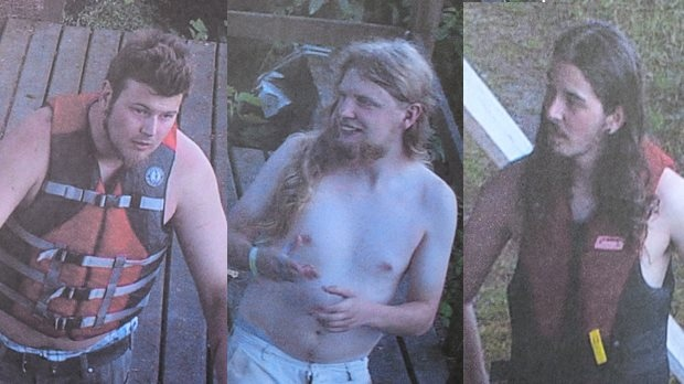 Coquitlam RCMP released photos of the three suspected arsonists after its investigation came to a 'standstill.'