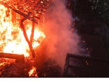 Cabin on fire