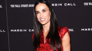 "Actress Demi Moore attends the premiere of ""Margin Call"" on Monday, Oct. 17, 2011, in New York. (AP / Peter Kramer)"
