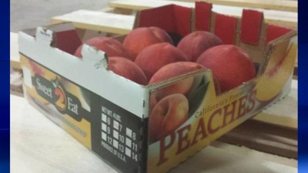 Sweet 2 Eat brand peaches (CFIA HO)