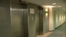 Residents say these elevators at a Hintonburg apartment only provide sporadic service, January 4, 2011.