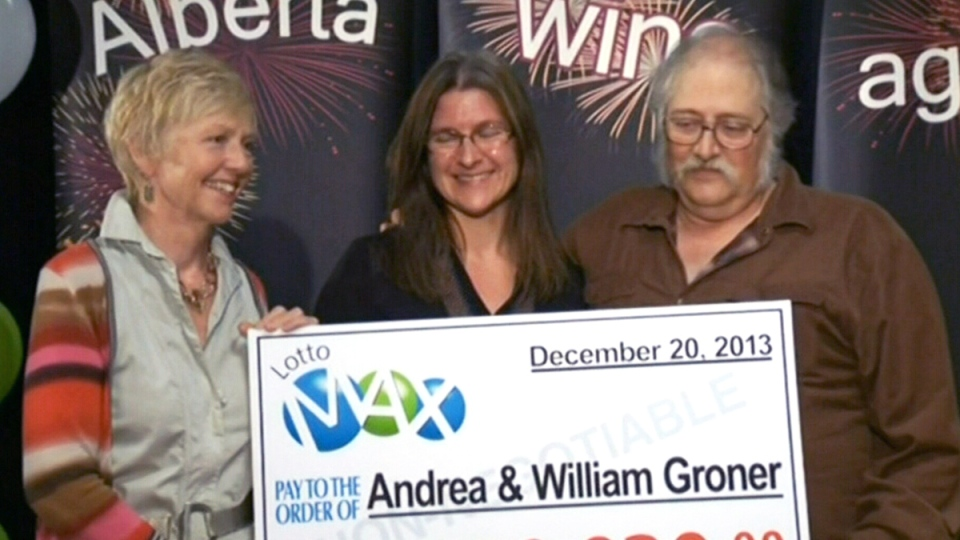 A file photo shows a Lotto Max ticket from July 2010.