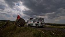 Wreckage of downed Flight MH17 in Ukraine