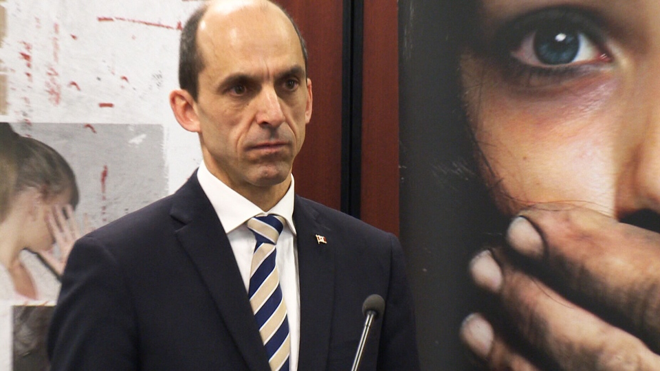 Public Safety Minister Stephen Blaney speaks at a press conference on Tuesday, July 22, 2014.