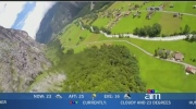 Canada AM: Wingsuit flight through waterfall