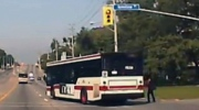 Woman nearly struck by TTC bus
