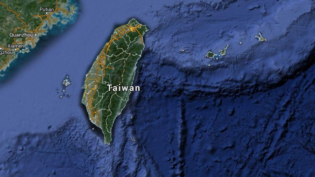 Google map of Taiwan