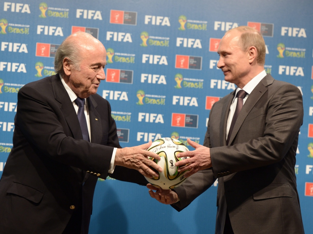 Handover of FIFA World Cup from Brazil to Russia