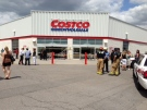 A car backed into the front doors of the Costco location in south London, Ont. on Friday, July 25, 2014 striking a number of people. (Nick Paparella / CTV London)
