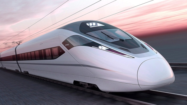 The Bombardier Zefiro 380 high speed train is shown in an artist's rendering. THE CANADIAN PRESS/HO, Bombardier