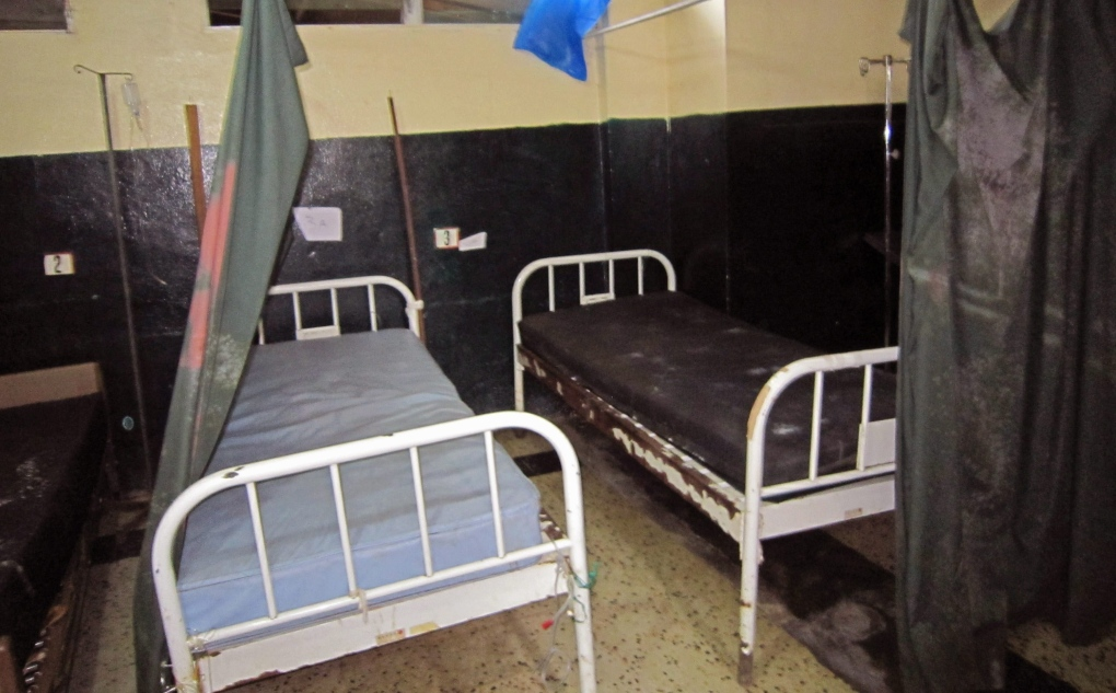 Empty hospital beds during Ebola outbreak