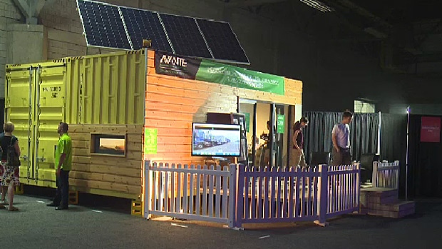 Edmonton-based Avante Developments were showing off their modular homes during K-Days.