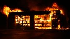 Fire in Millville, N.B.