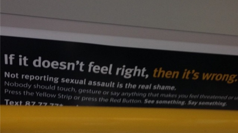 Offensive transit ad