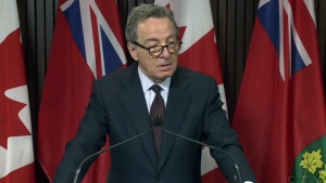 Aboriginal Affairs Minister David Zimmer speaks at Queen's Park in Toronto, Tuesday, July 29, 2014.
