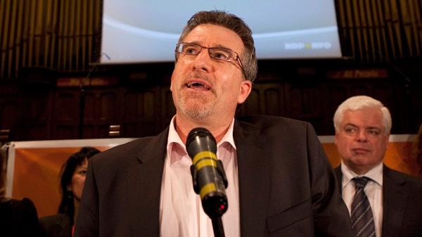 Craig Scott speaks after winning the Toronto-Danforth NDP nomination on Monday, Jan. 9, 2012. (Matthew Sherwood / THE CANADIAN PRESS)