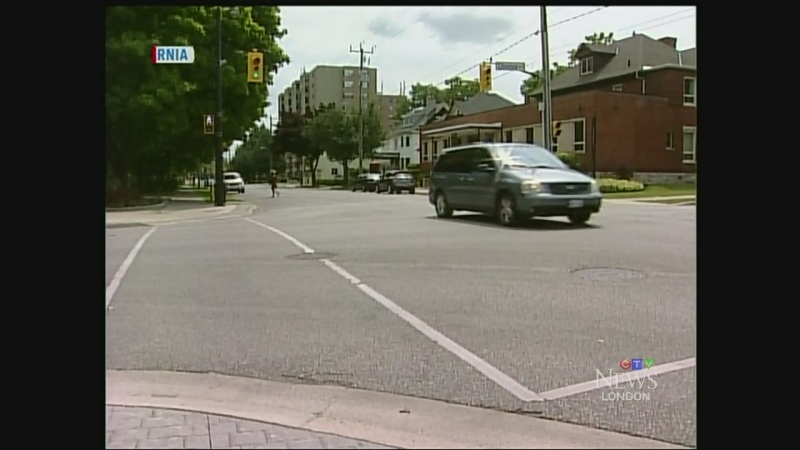 A cab driver was attacked with a knife after picking up a fare in downtown Sarnia, Ont. on Tuesday, July 29, 2014. (Celine Moreau / CTV London)