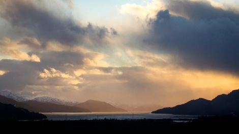 The Douglas Channel, the proposed termination point for an oil pipeline from Alberta is seen at sunset in Kitimat, B.C., on Monday Jan. 9, 2012. (Darryl Dyck / THE CANADIAN PRESS)
