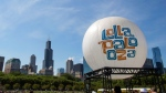 Lollapalooza Festival site in Grant Park in Chicago, on Aug. 4, 2013. (AP / Scott Eisen)